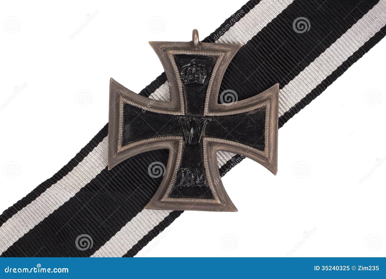 Ww1 German Medal Iron Cross Stock Image Image Of World Retro