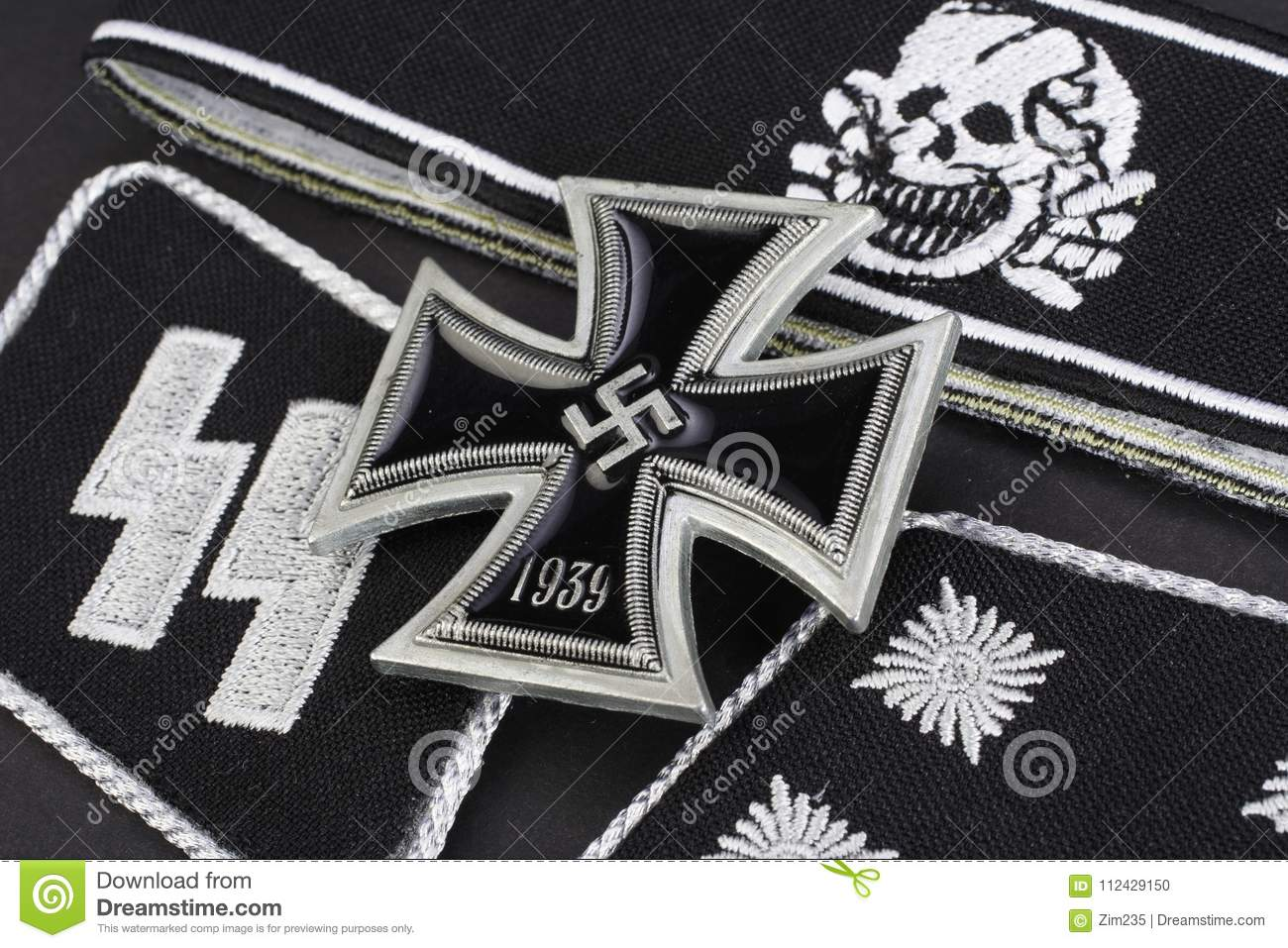 ww2 german waffen ss military insignia stock photo image of cross