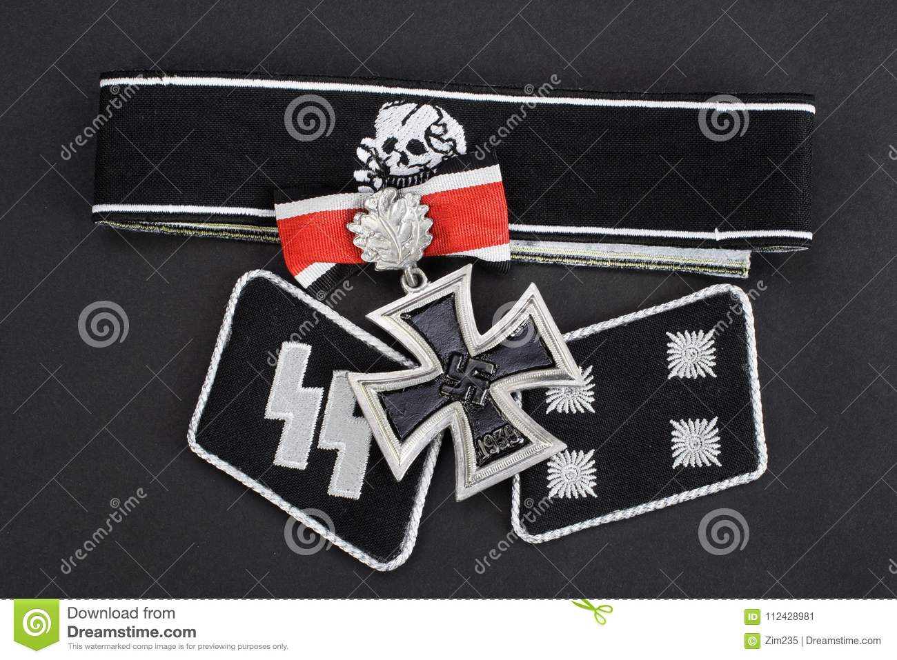Ww2 German Waffen Ss Military Insignia Stock Image Image Of Detail