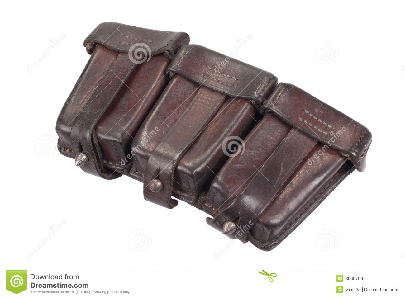 Red Wing Chair Ww1 Period Leather Ammo Pouch Royalty Free Stock Images ...