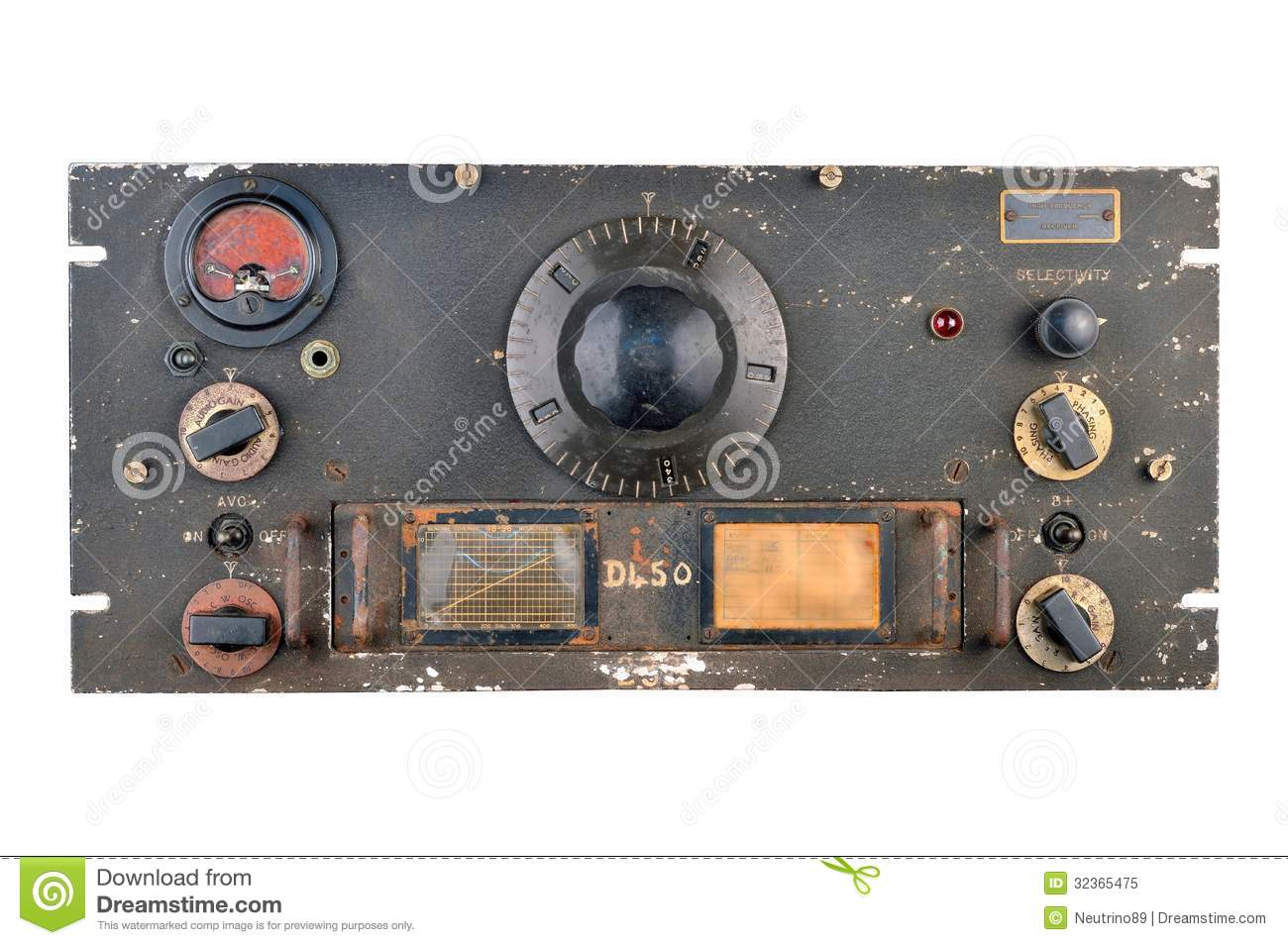 Ww2 radio receiver stock image  Image of vintage, receiver