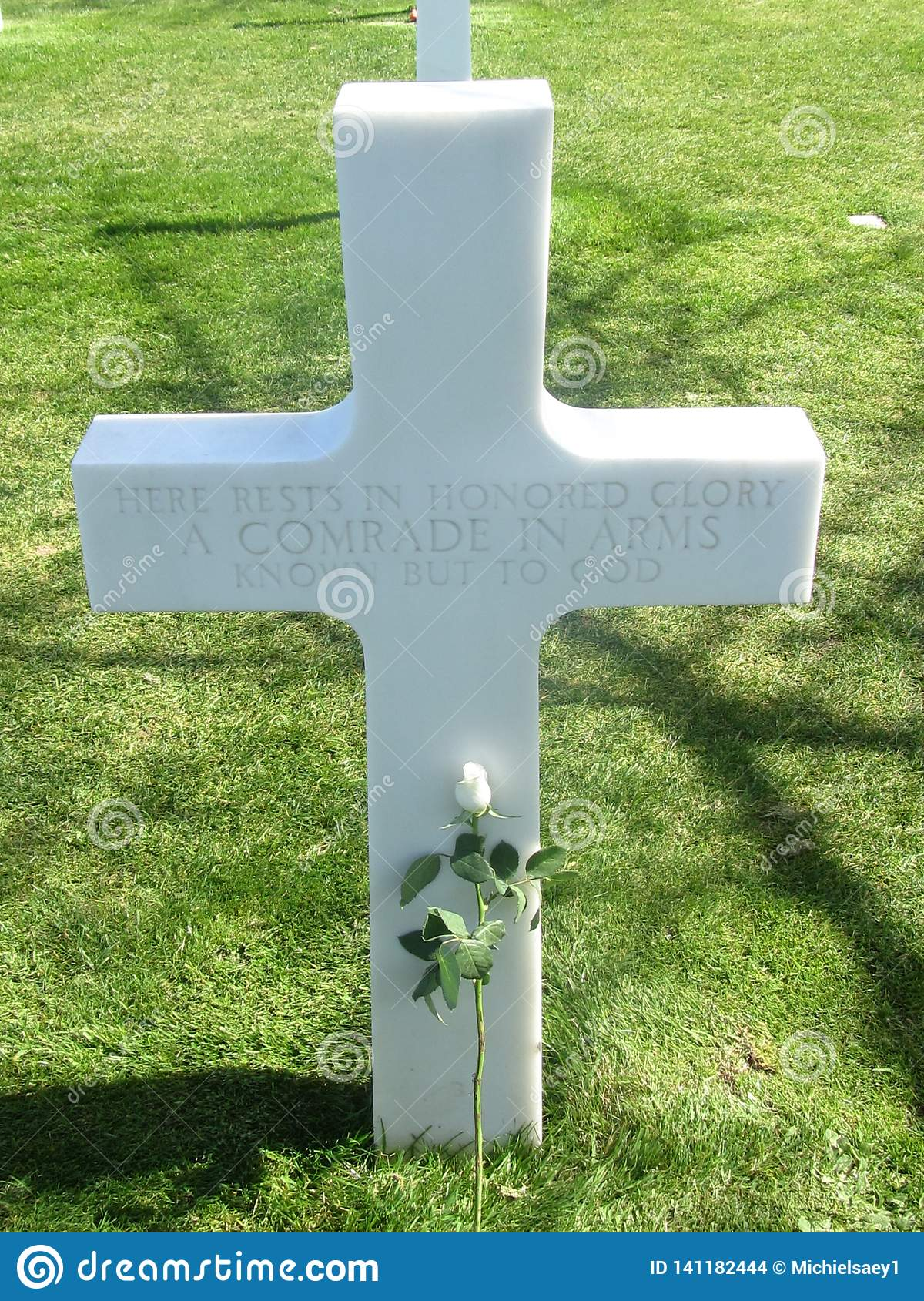 WW2 war soldier cross france normandy grave