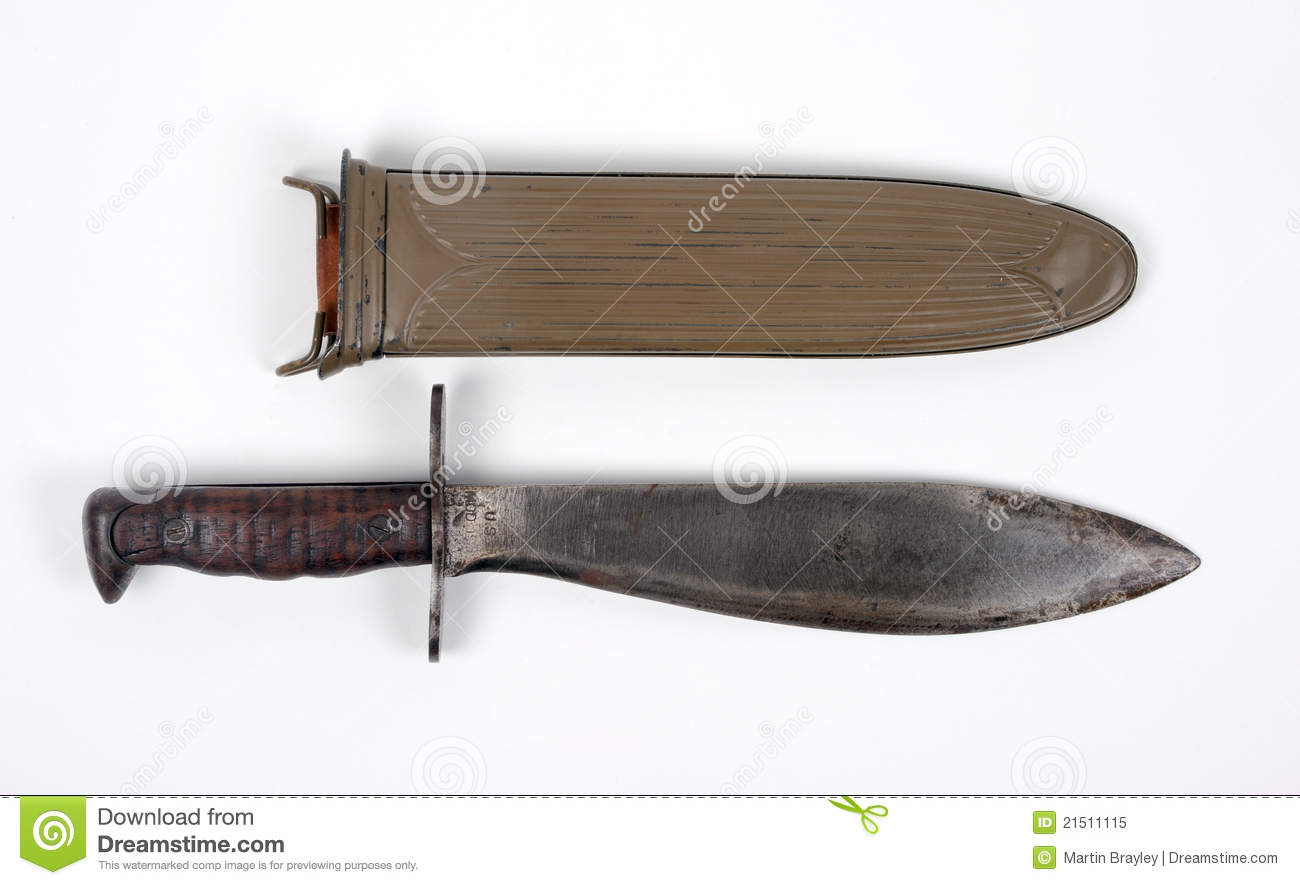 Ww1 American Combat Knife Royalty Free Stock Photo Image