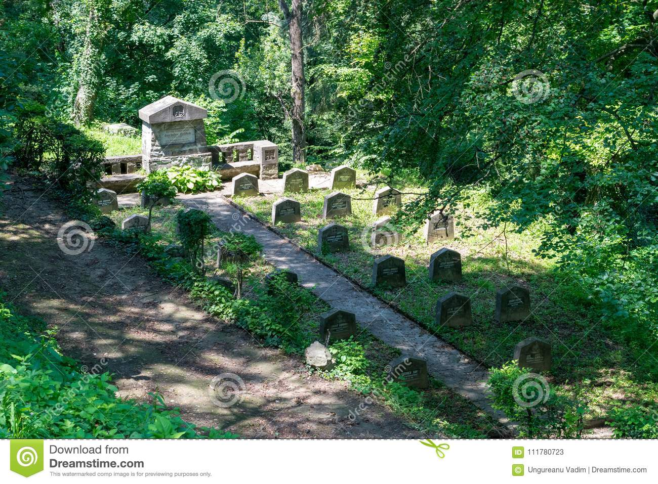 WWI Cemetery, near Saxon cemetery, located next to the Church on the Hill in Sighisoara, Romania