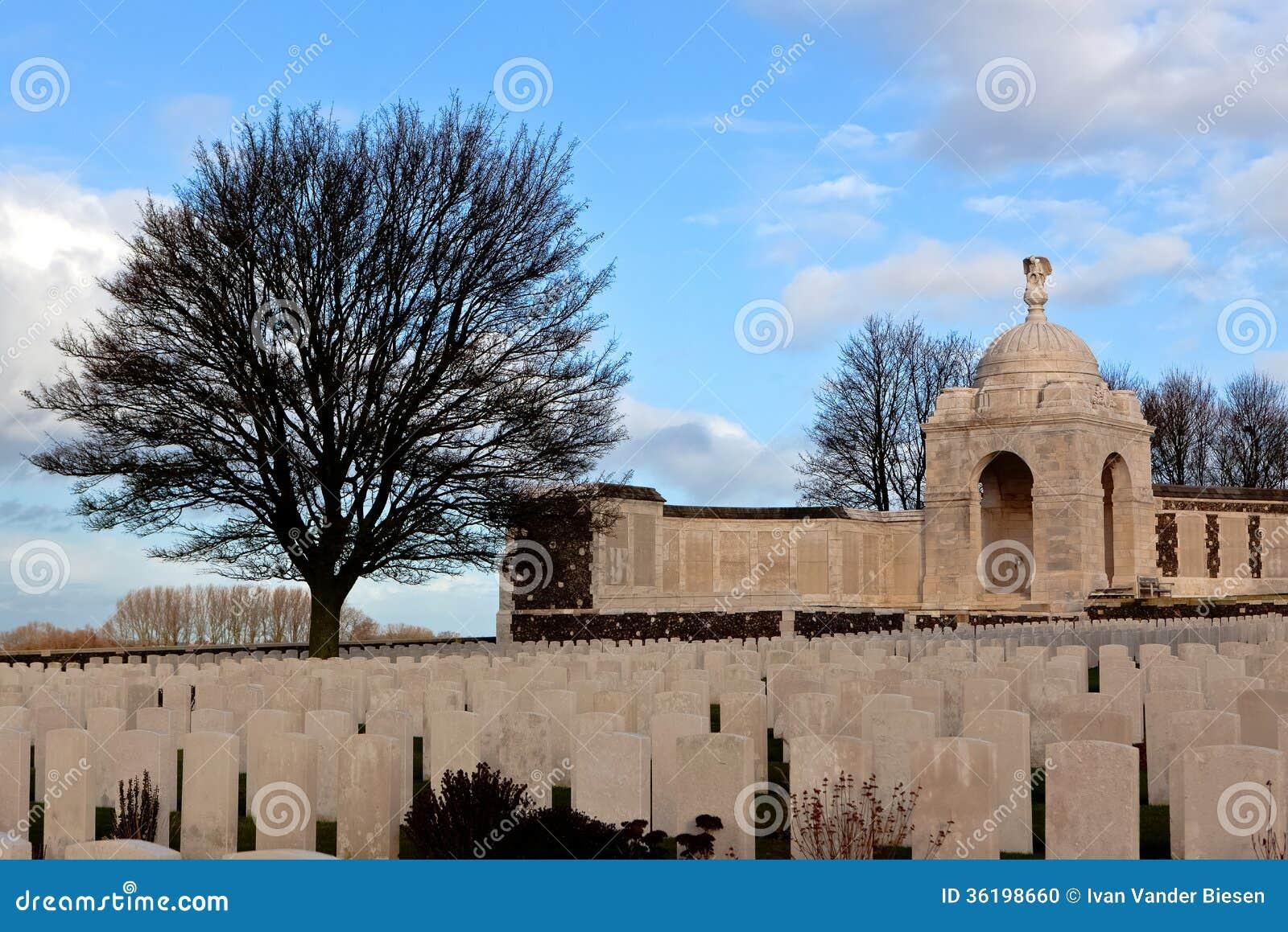 WWI Tyne Cot Cemetery op de Gebieden van Vlaanderen, België