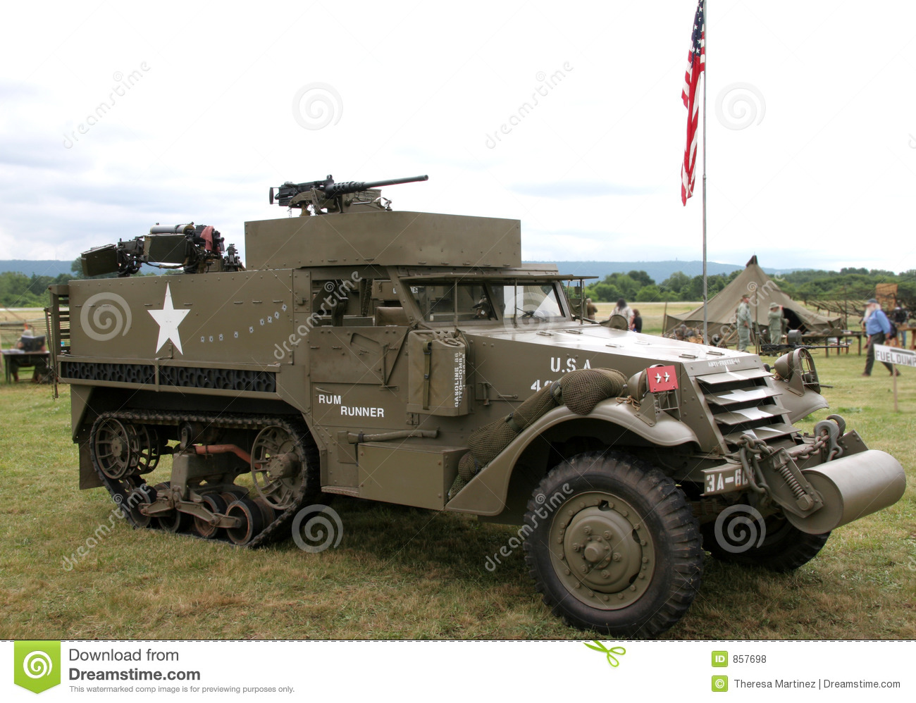 Wwii Army Trucks >> WWII Half Track stock photo. Image of reenactment, army - 857698