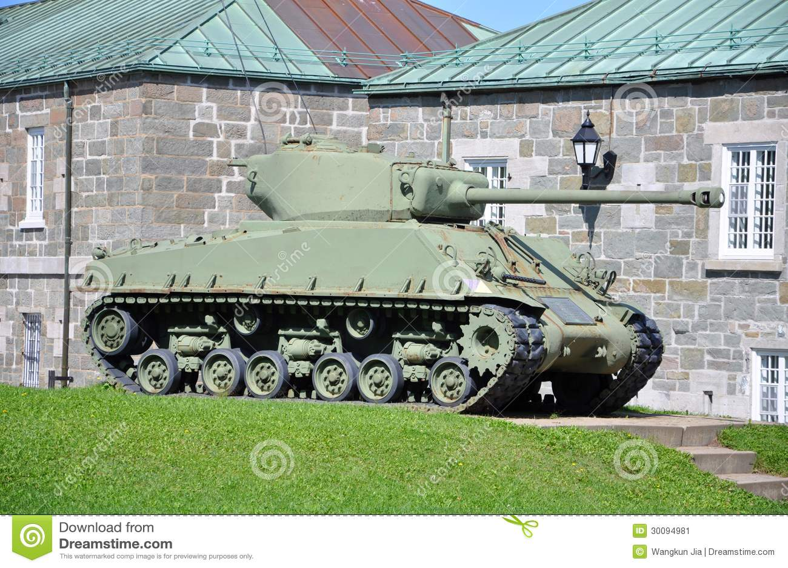 WWII Tank at La Citadelle in Quebec City, Canada