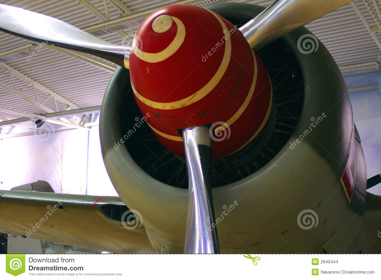 Wwii Plane Prop With Spiral Stock Photo Image Of Silver