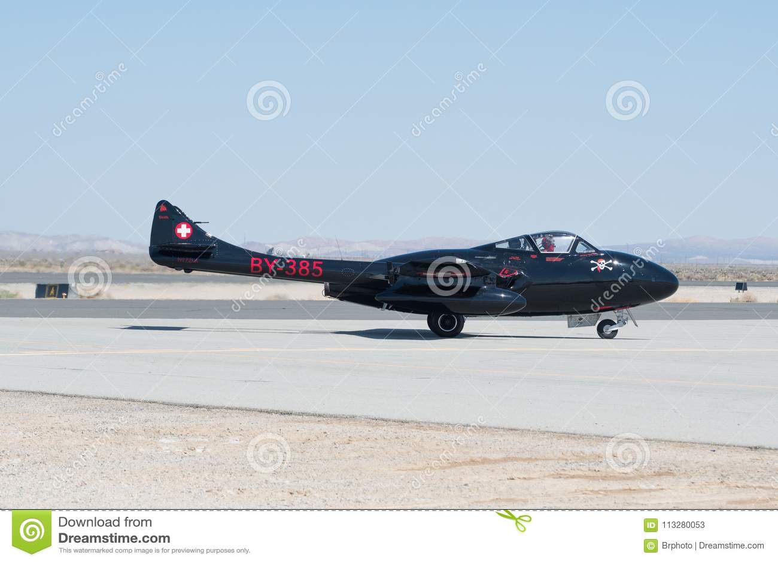 WWII Vampire De Havilland British喷气机