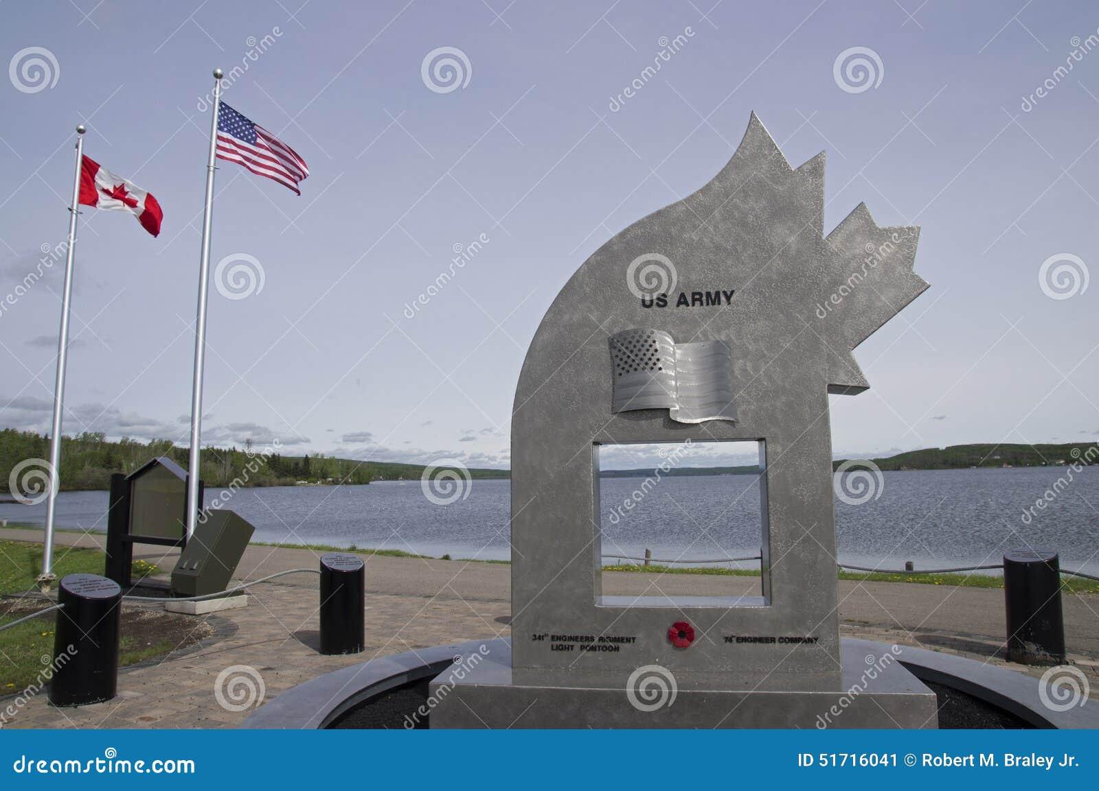 WWII Vintage Military Memorial