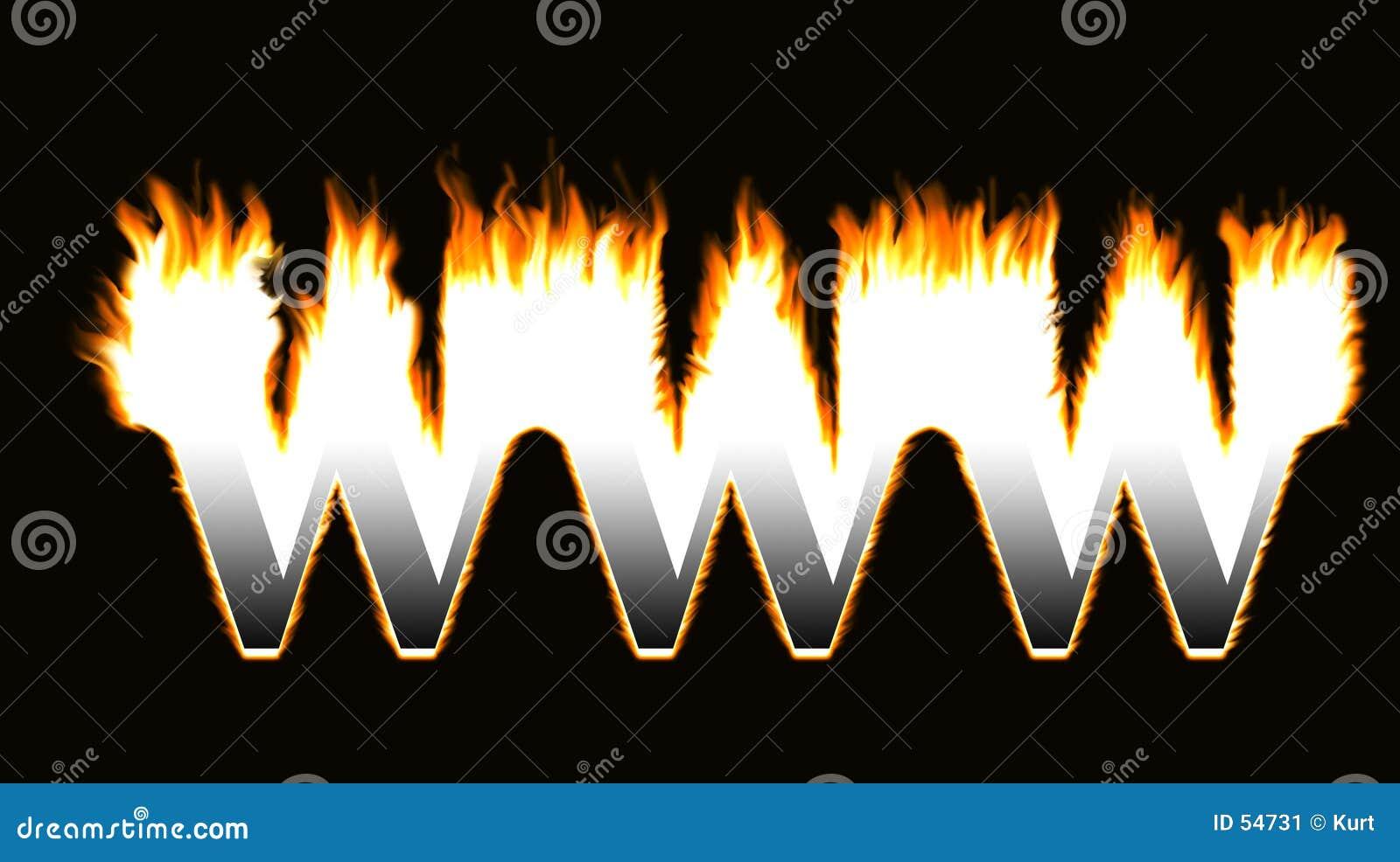 Download WWW brûlant illustration stock. Illustration du brûlure - 54731
