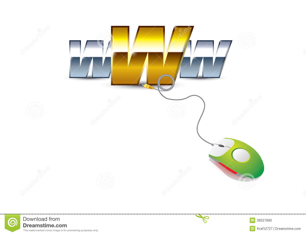 Www Mouse Stock Illustration Of Business 39527890 Wiring A Plug End Elena Bright White Color With Wire And On Its That Connects To The