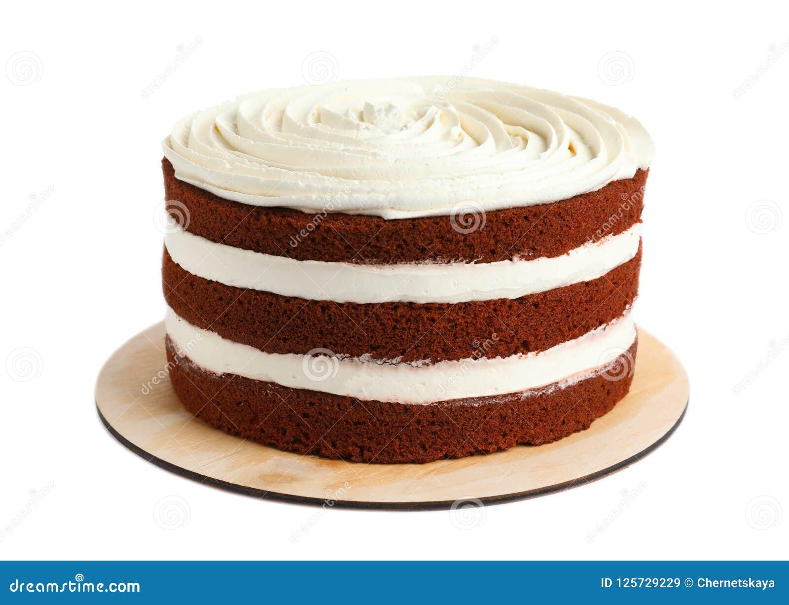 Wyśmienicie domowej roboty czerwony aksamita tort