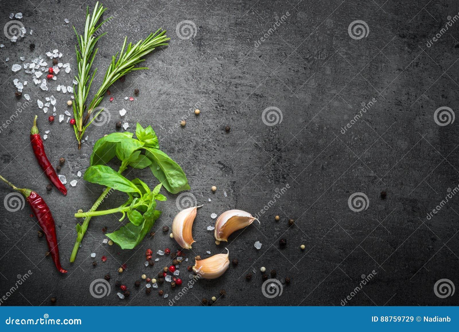 Wybór pikantność zielenie i ziele