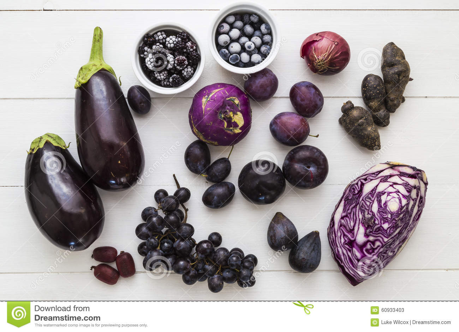 Wybór purpurowa owoc i veg