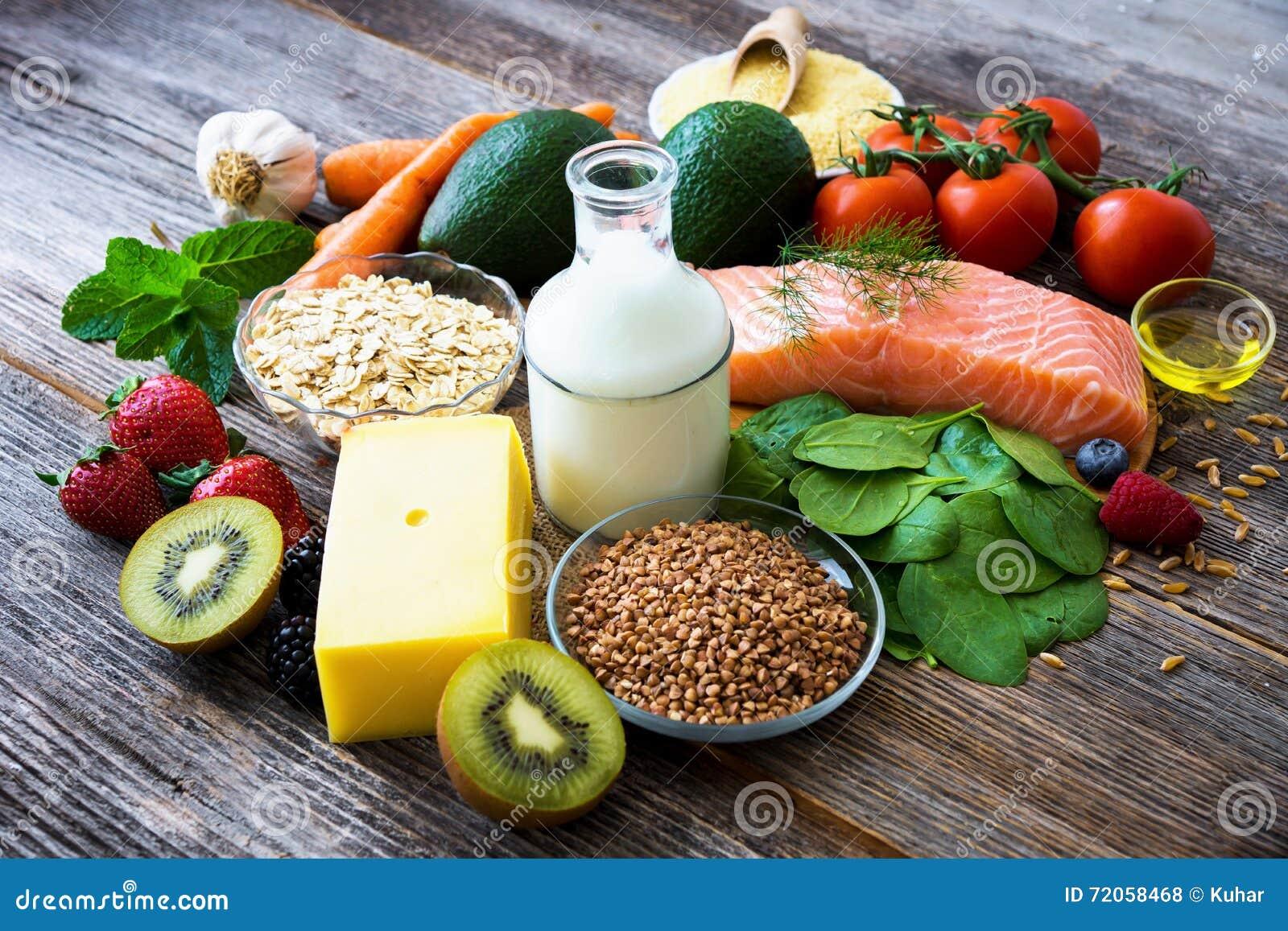 Wybór zdrowy jedzenie