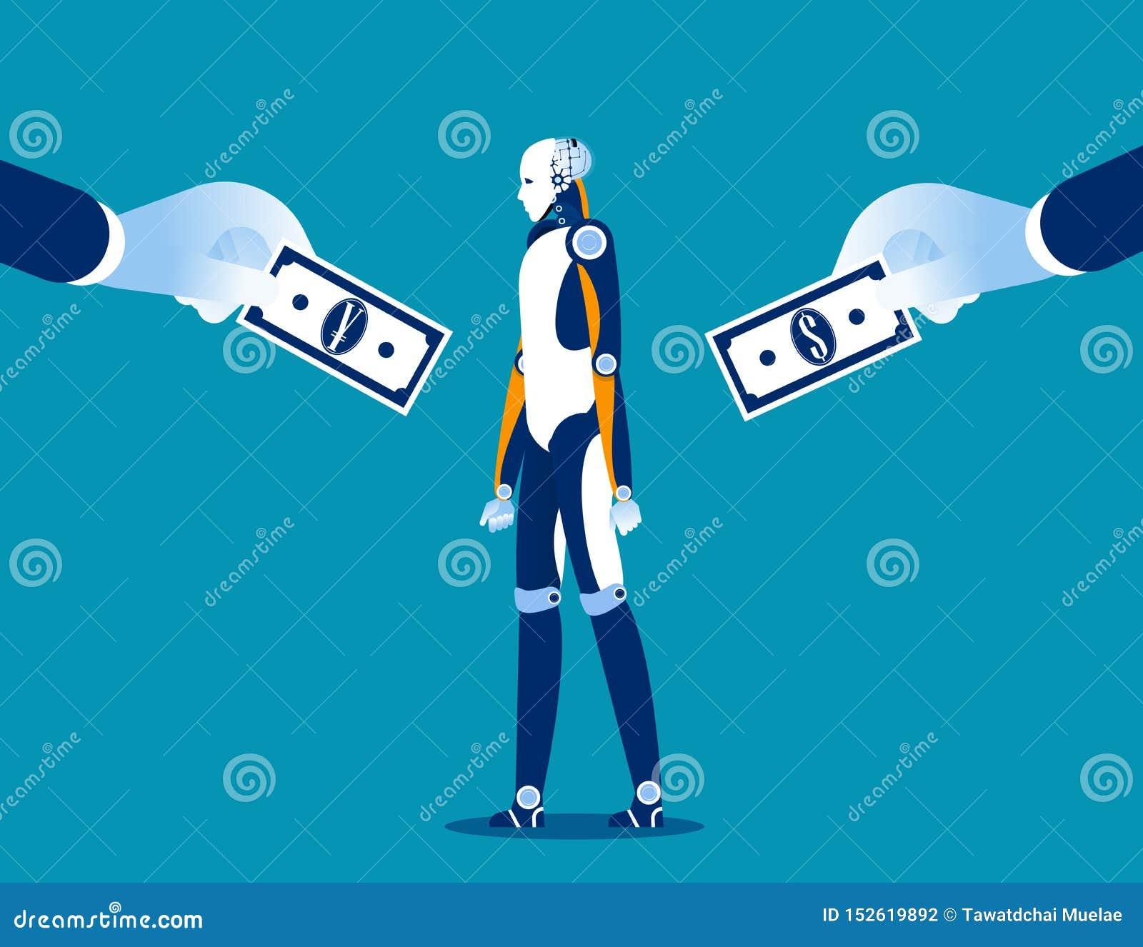 Wyb?r Biznesowa korporacyjna zakup technologia między walutami Pojęcie biznesowa wektorowa ilustracja, waluta, mieszkanie styl, k