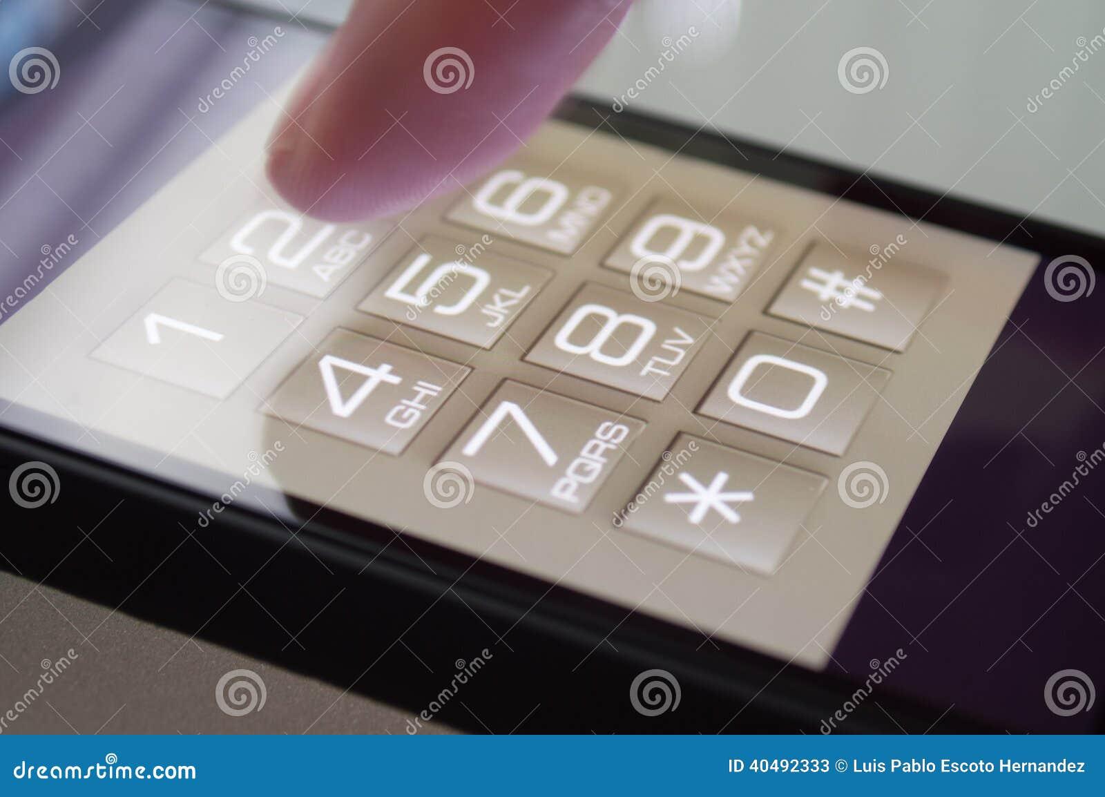 Wybierać numer na Smarthpone