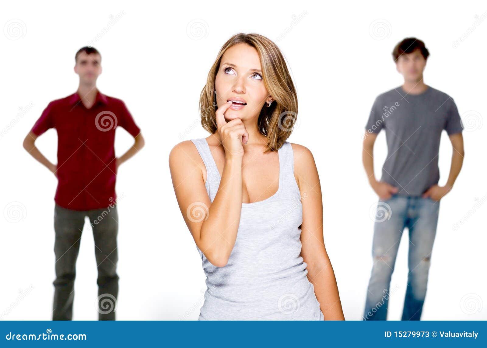 Wybiera mężczyzna kobiety dwa potomstwa