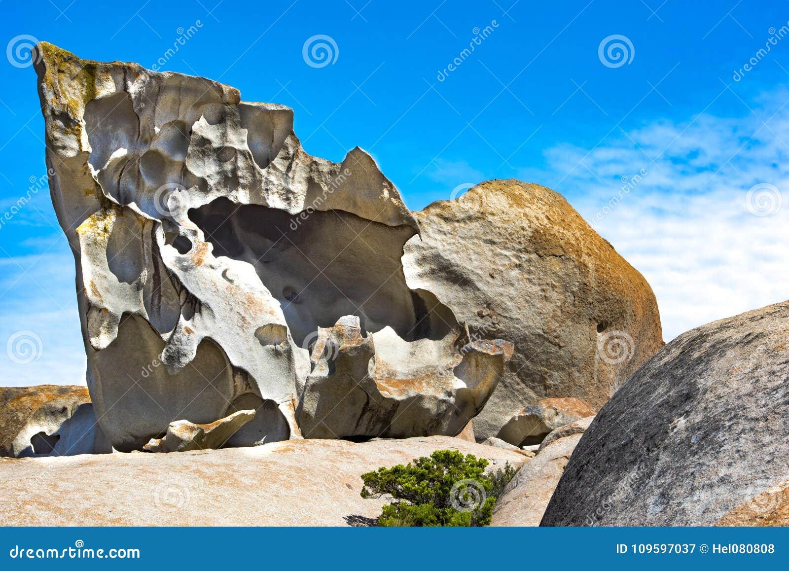 Wybitne skały, kangur wyspa, Australia