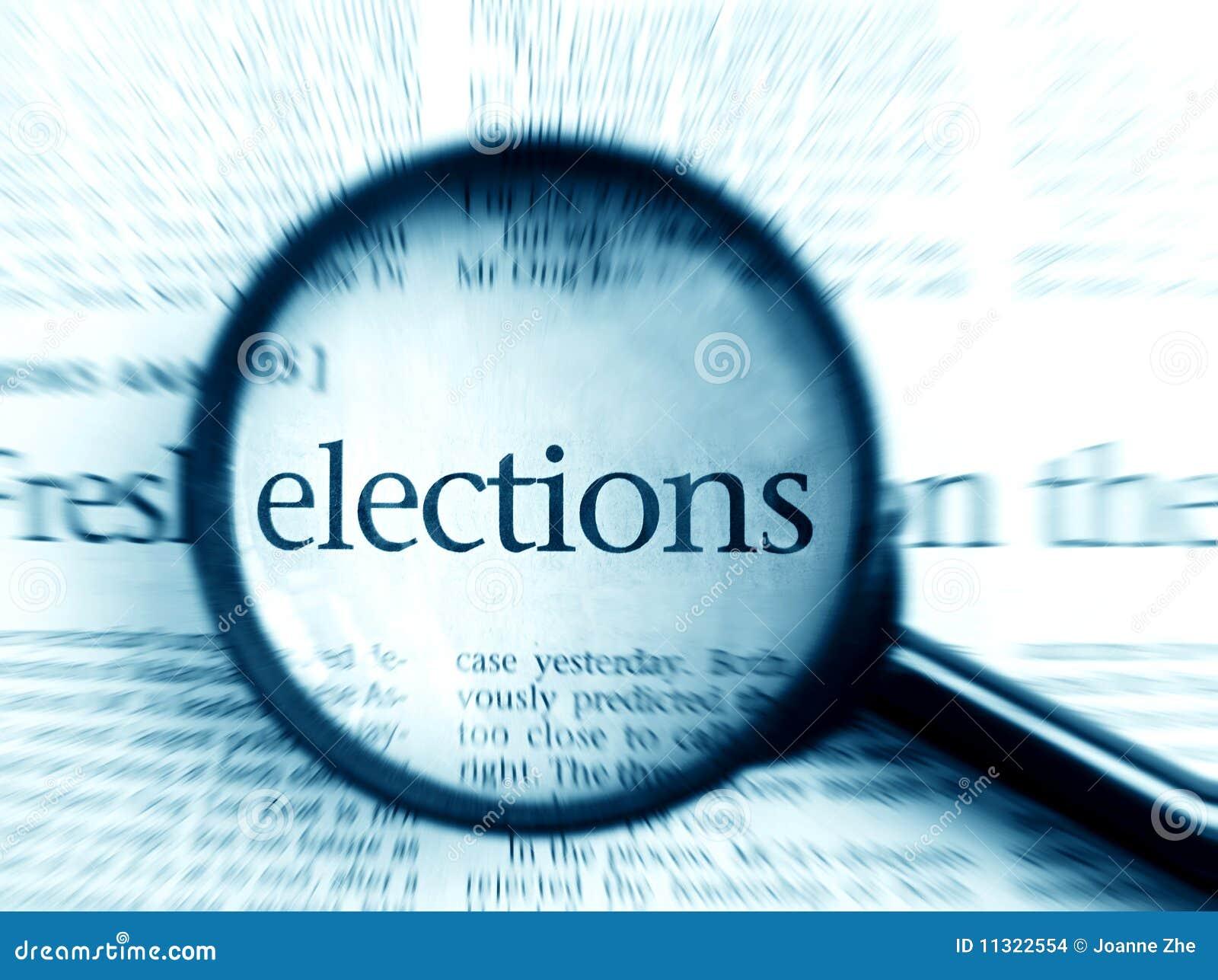 Wyborów wybory skupiają się słowo