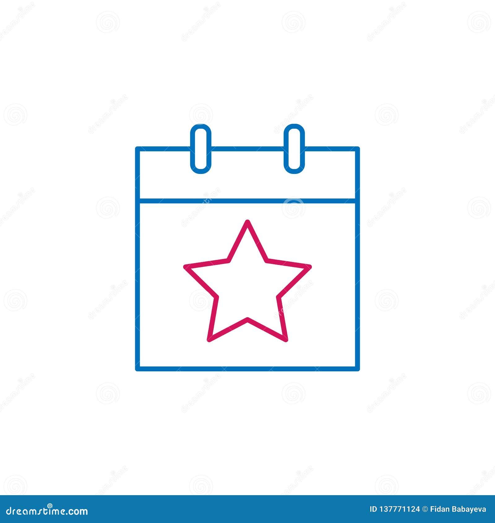 Wybory, wybory dnia konturu barwiona ikona Może używać dla sieci, logo, mobilny app, UI, UX