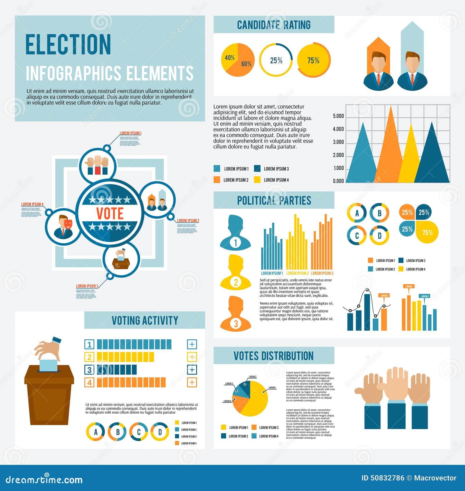 Wybory ikona Infographic