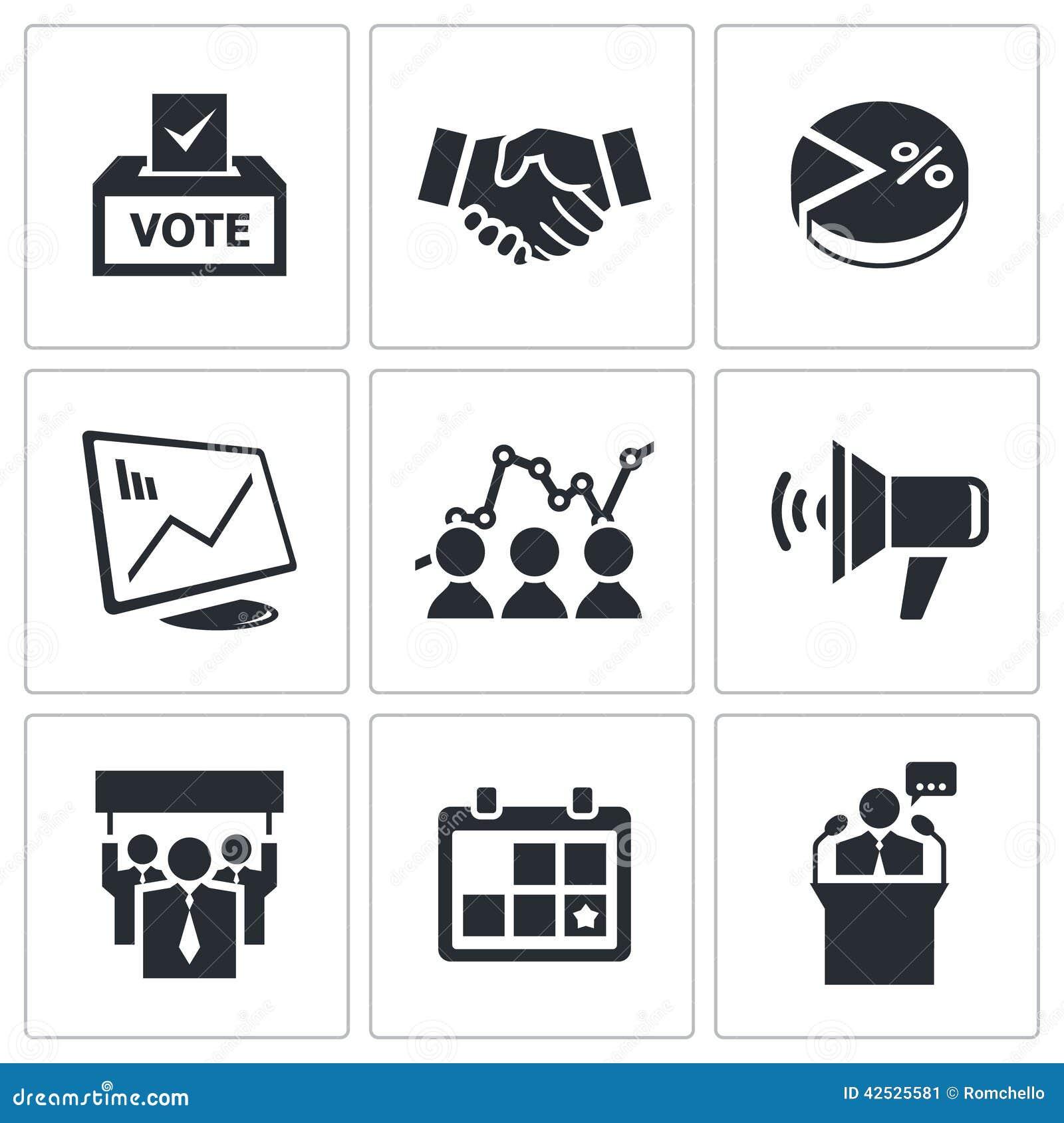 Wybory ikony ustawiać