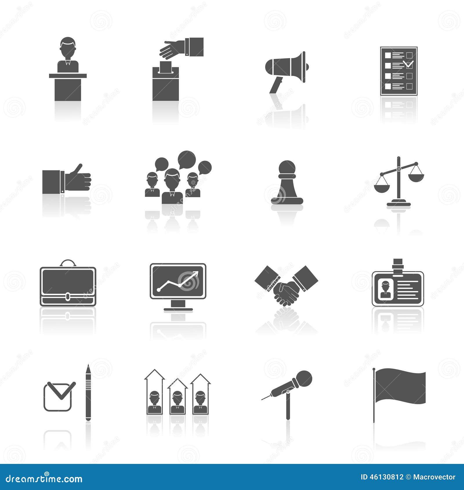 Wybory ikony ustawiają czerń