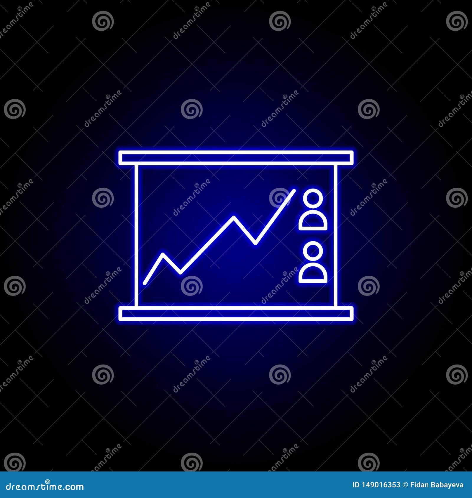 Wybory kreskowej mapy ikona w neonowym stylu Znaki i symbole mog? u?ywa? dla sieci, logo, mobilny app, UI, UX