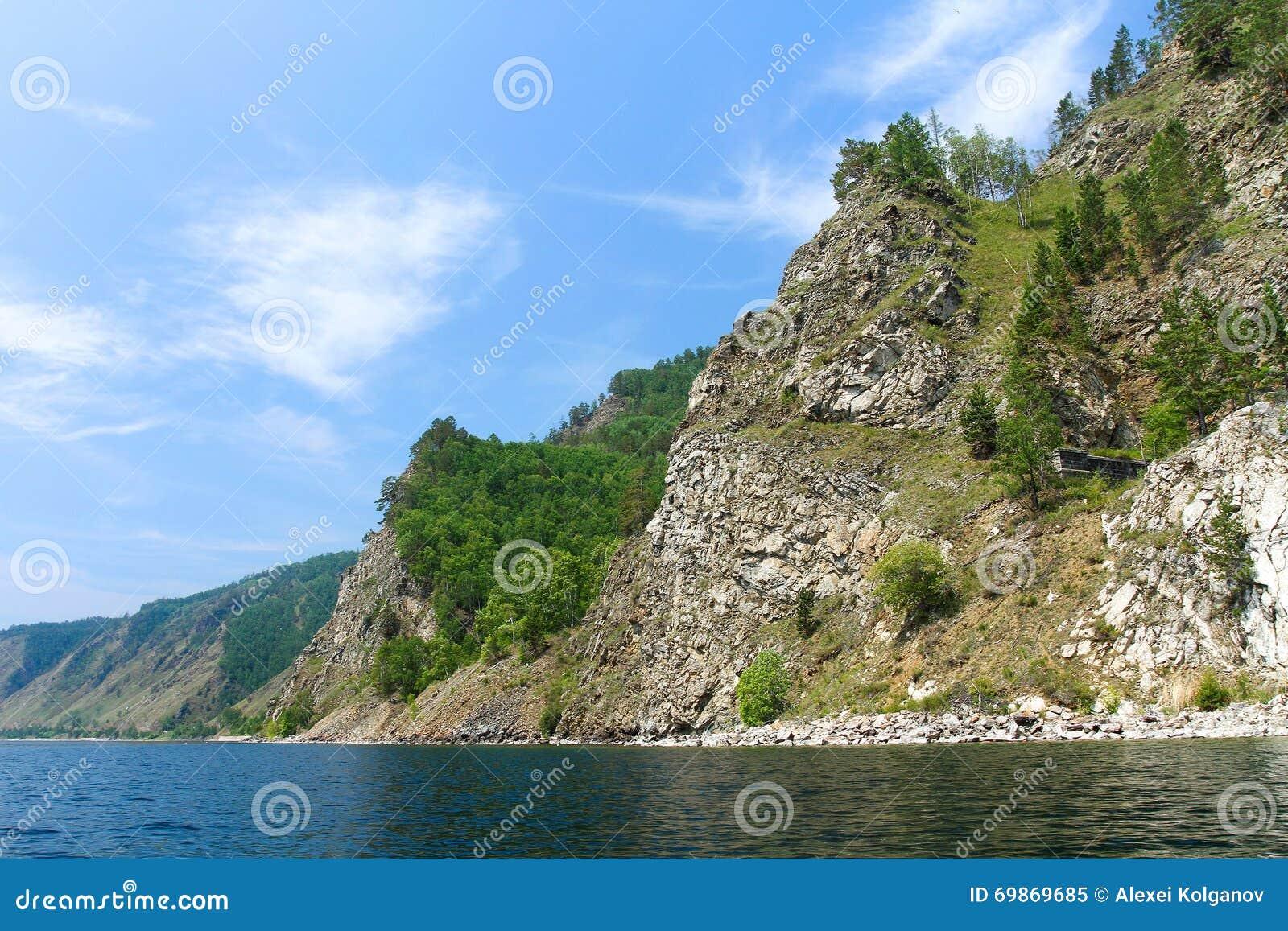 Wybrzeże Baikal linia kolejowa baikal jeziora