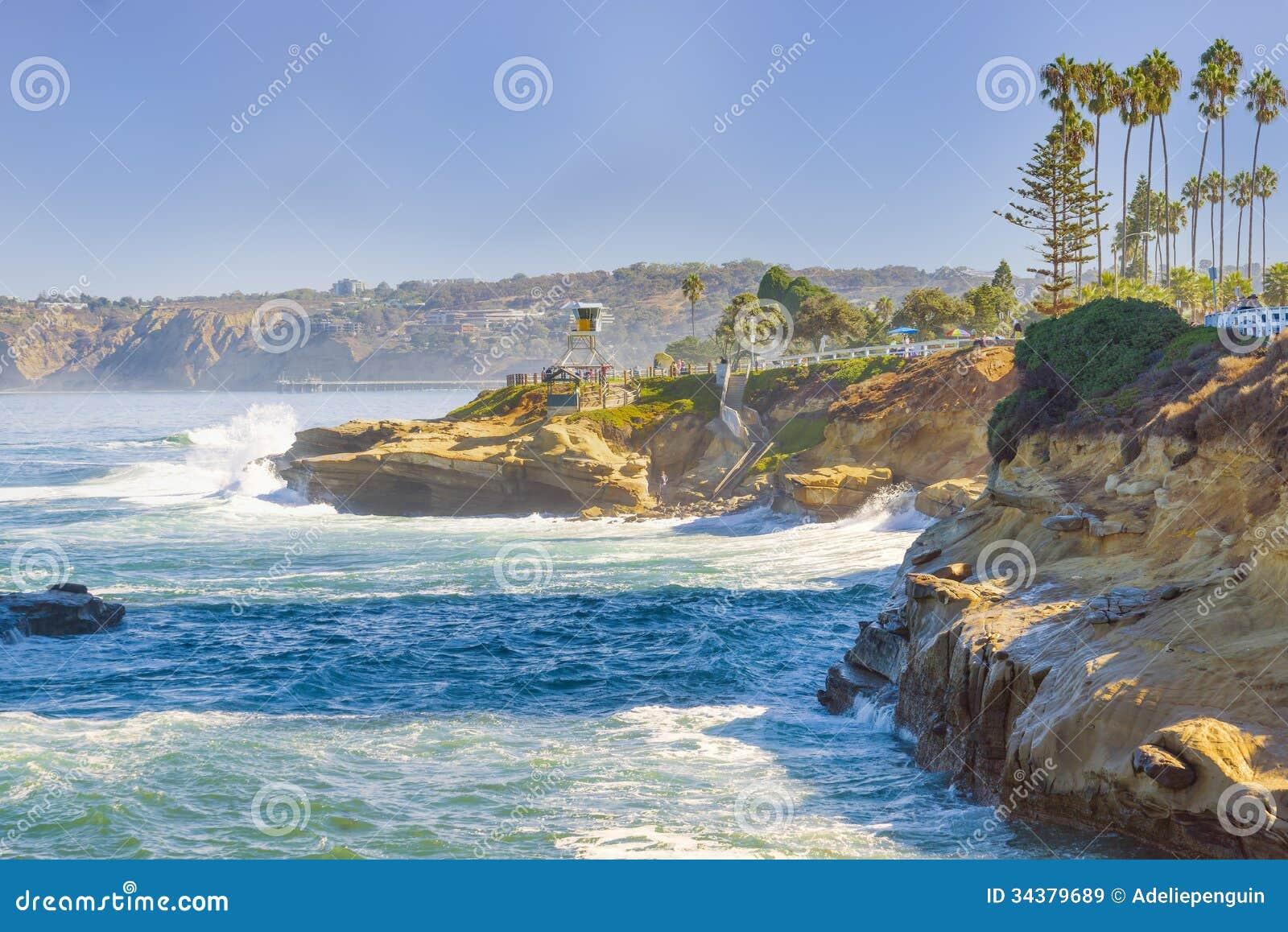 Wybrzeże los angeles Jolla, Kalifornia