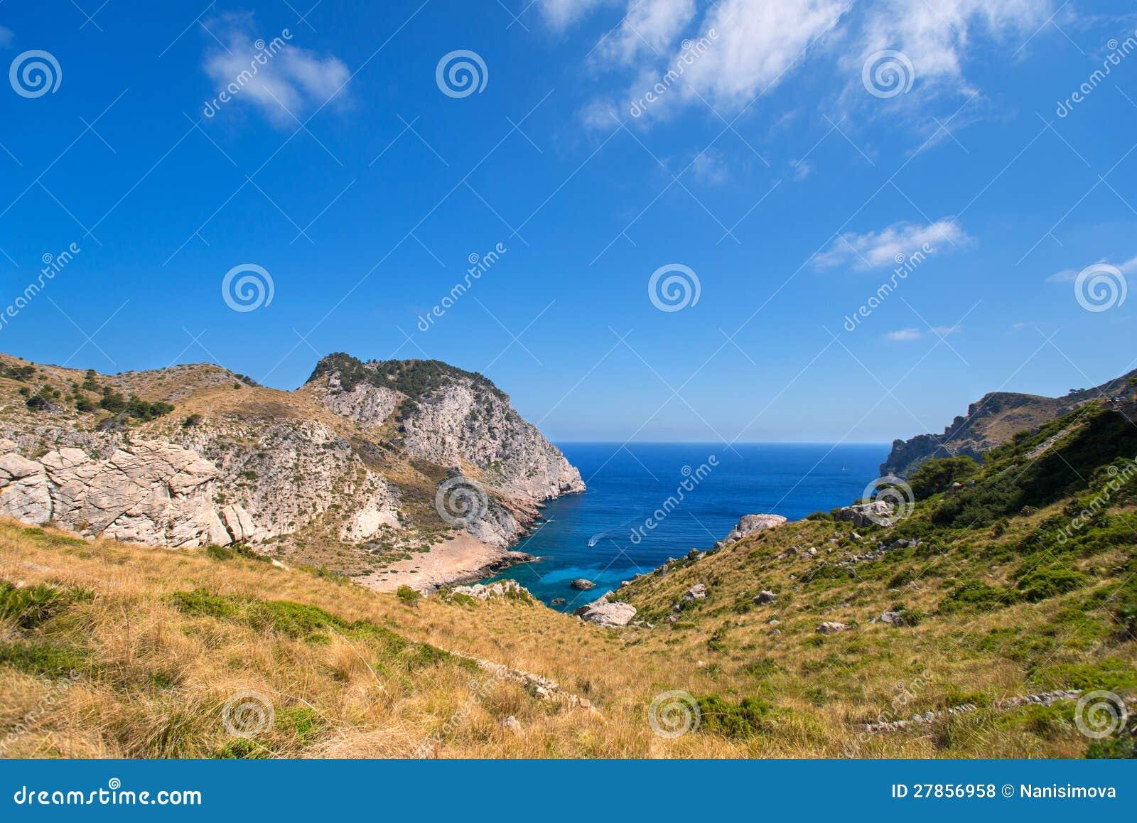 Wybrzeże Mallorca łódź