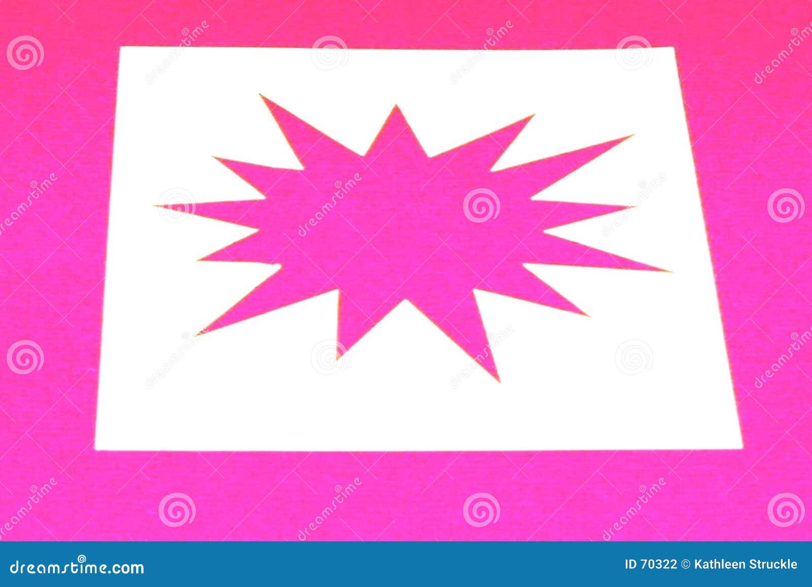 Wybuch różowego gwiazda