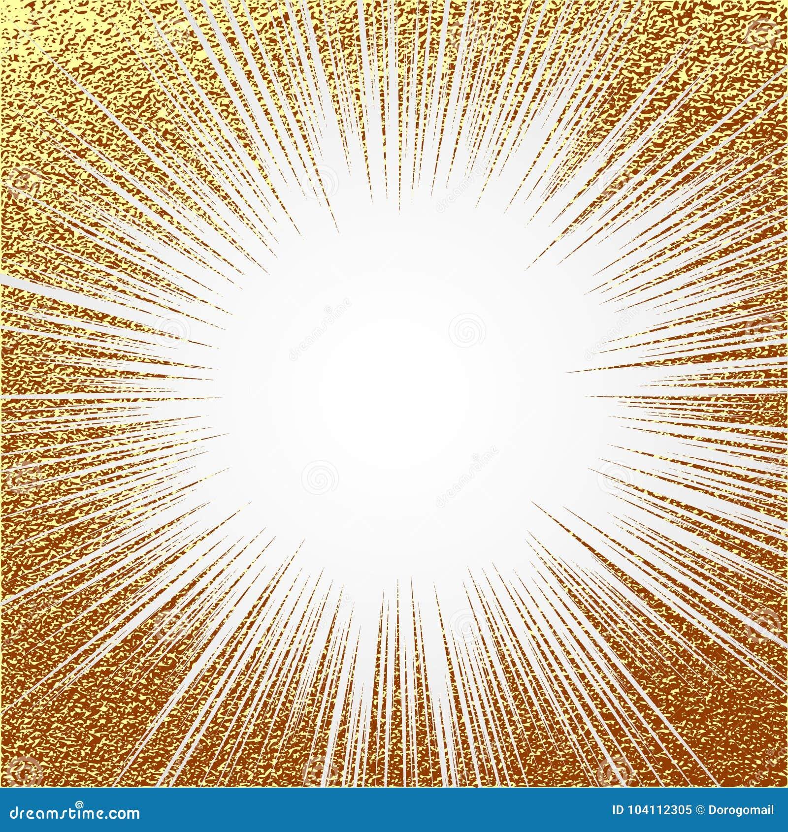 Wybuchu wektoru ilustracja Słońce promień lub gwiazdowy wybuchu element z błyskamy Złocista Bożenarodzeniowa element Złotej łuny