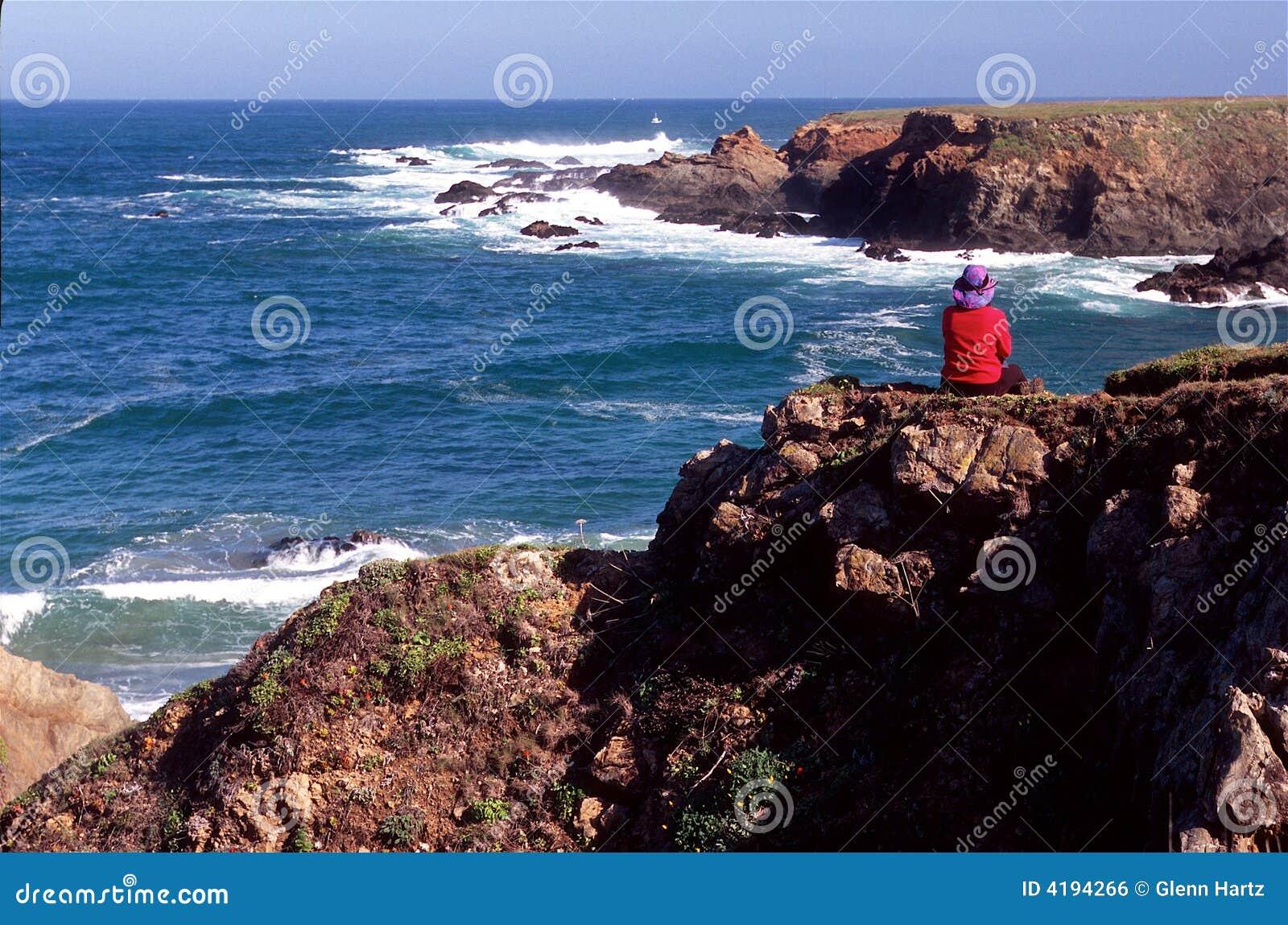 Wycieczkowicza oceanu