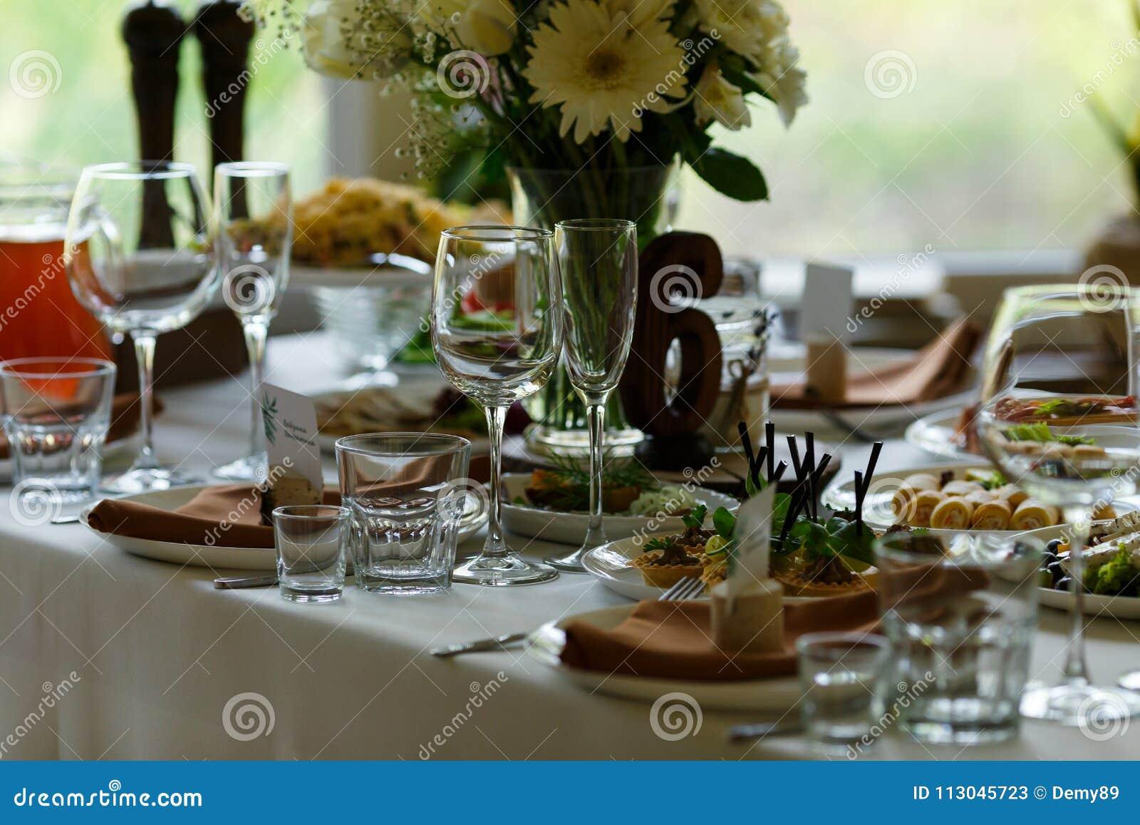 Wydarzenia partyjny recepcyjny setu stołu ślub