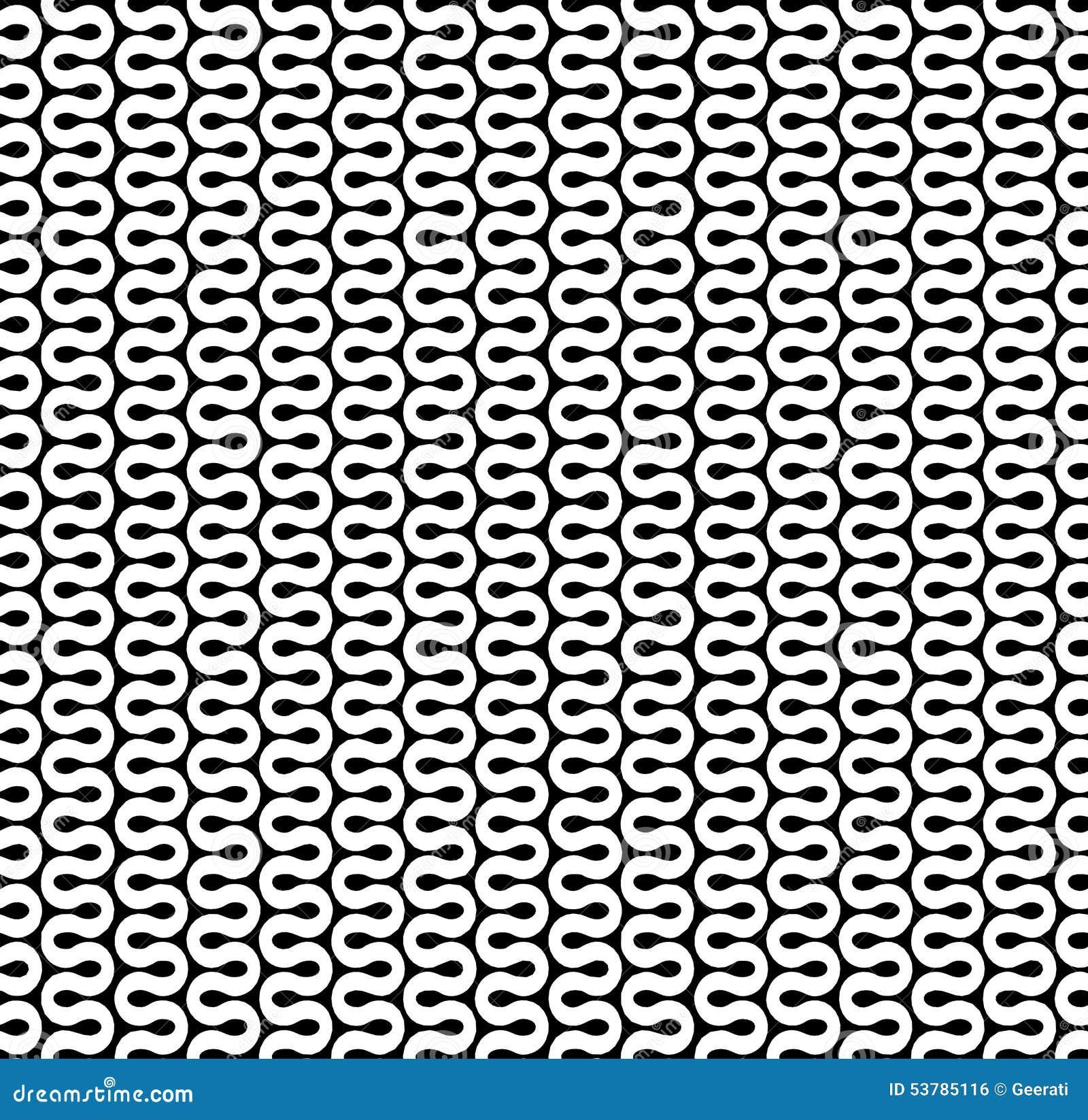 Wyginający się fala linii wzór