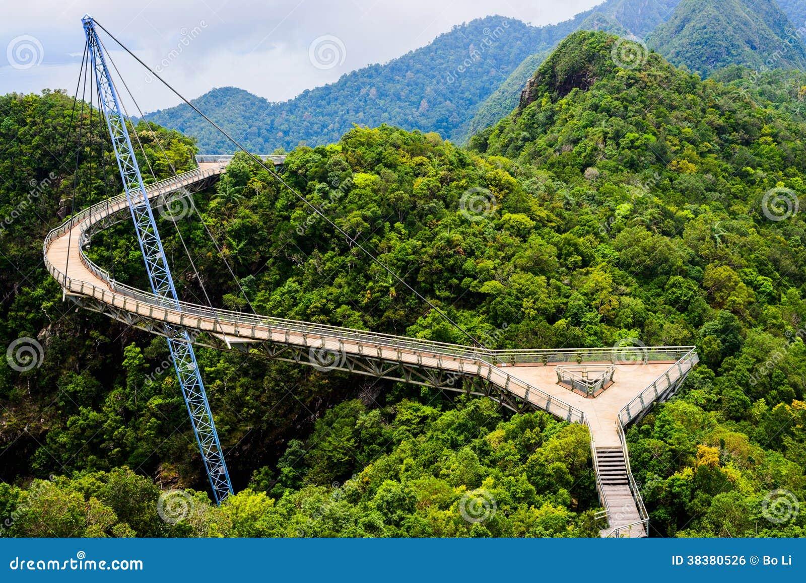 Wyginający się zawieszenie most