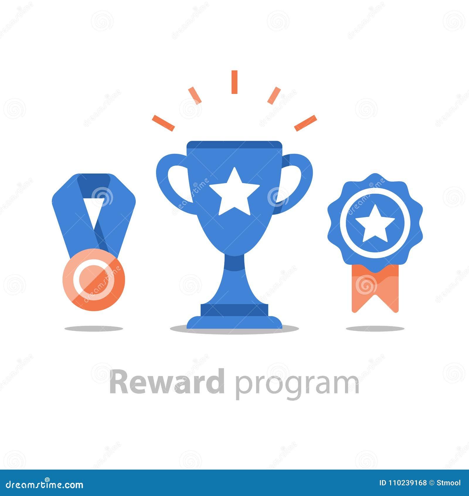 Wygrywa super nagrodę, nagroda program, zwycięzca filiżankę, pierwszy miejsce puchar, osiągnięcie i osiągnięcia pojęcie, płaska i