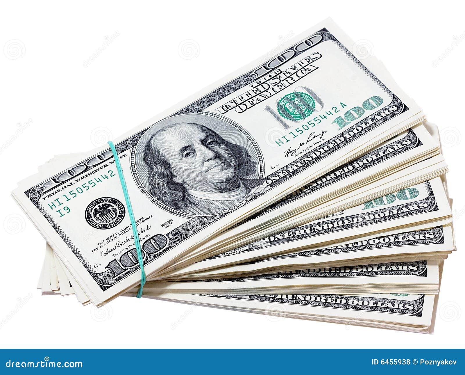 Wyizolowana dolarów.