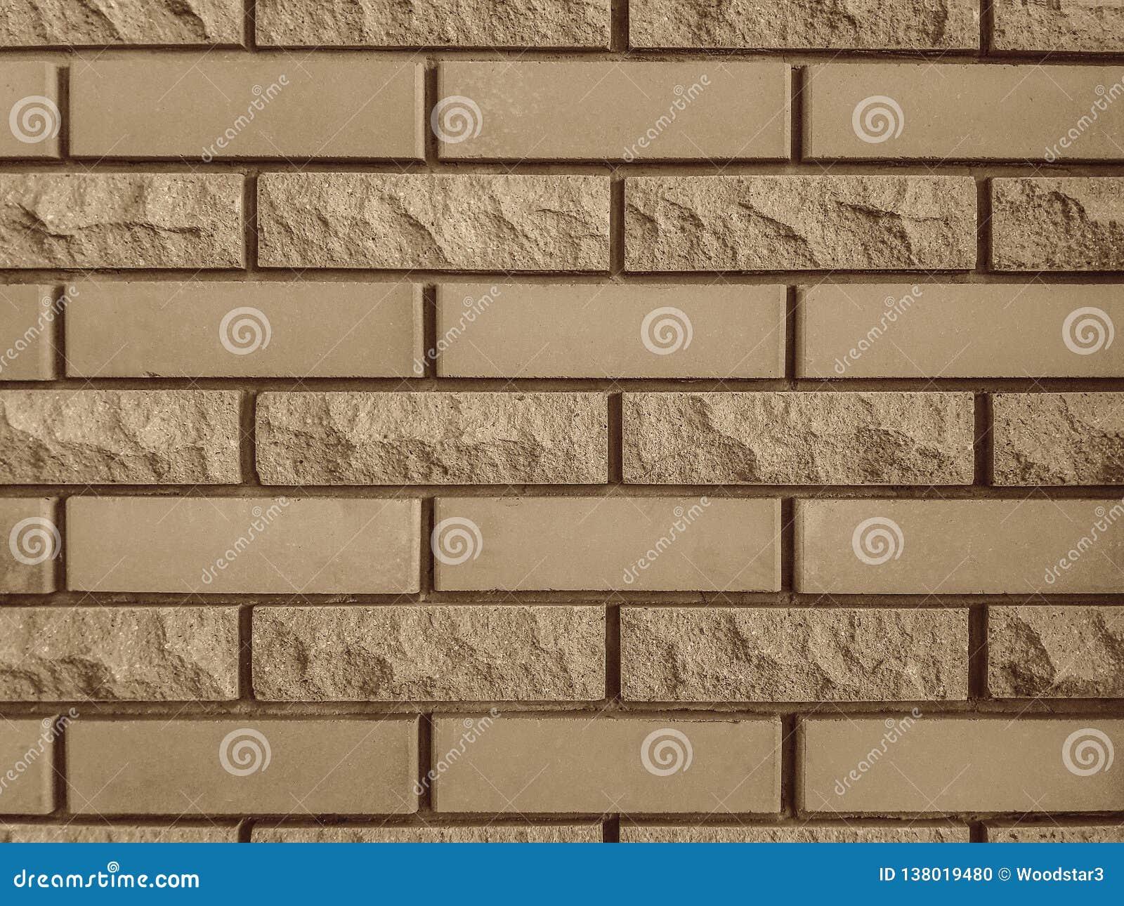 Wykończeniowy cegieł tekstur tło dla ścian Gładki i odłupany