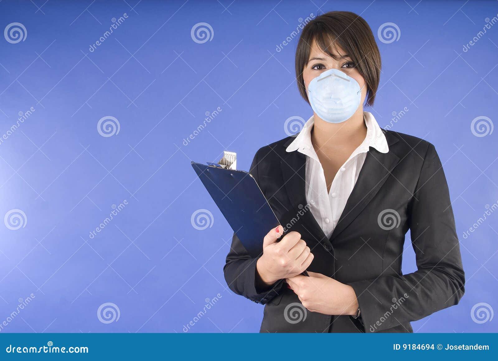 Wykonawczej grypy maski ochronna chlewni kobieta