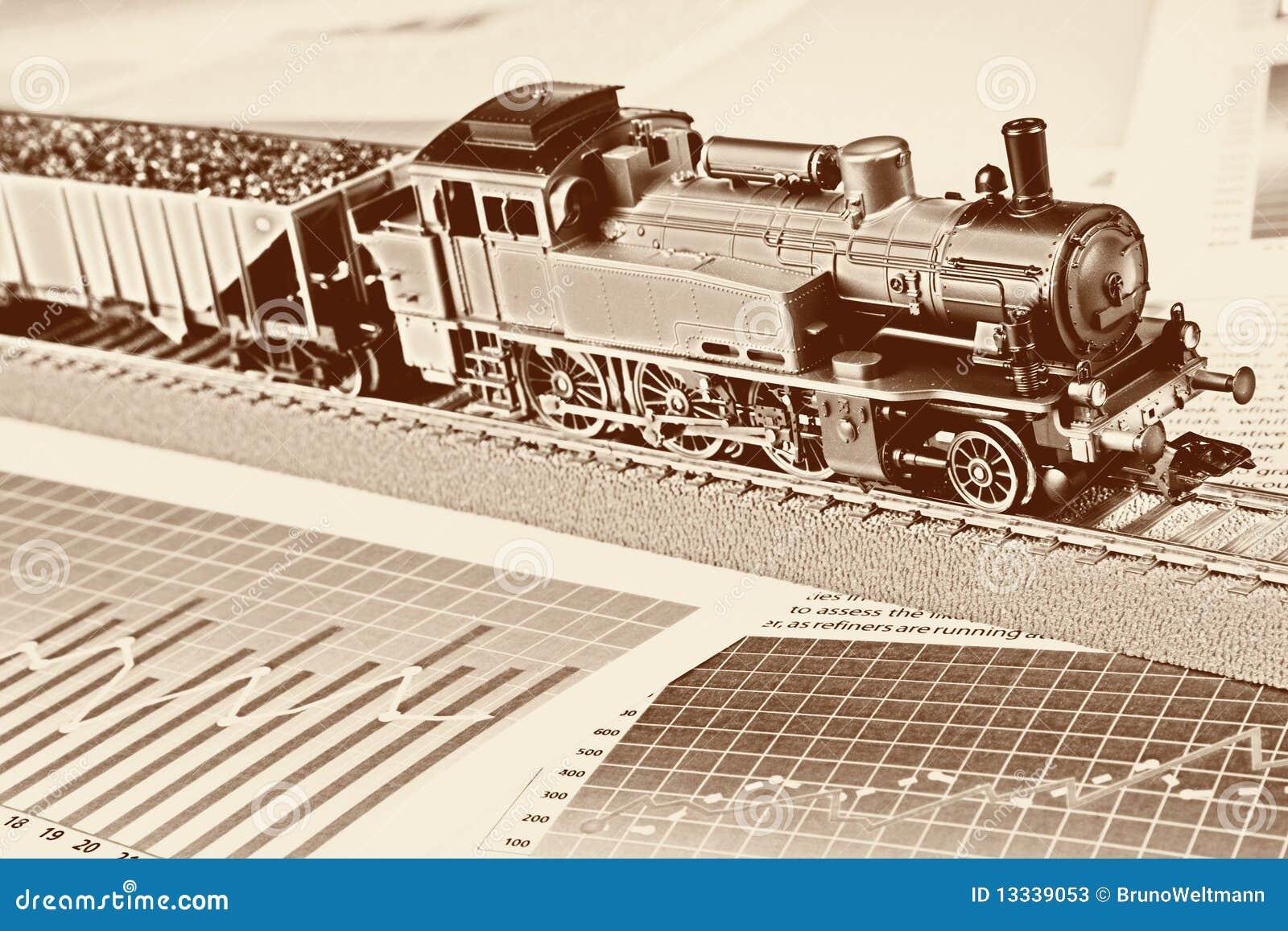 Wykresów lokomotywy model retro