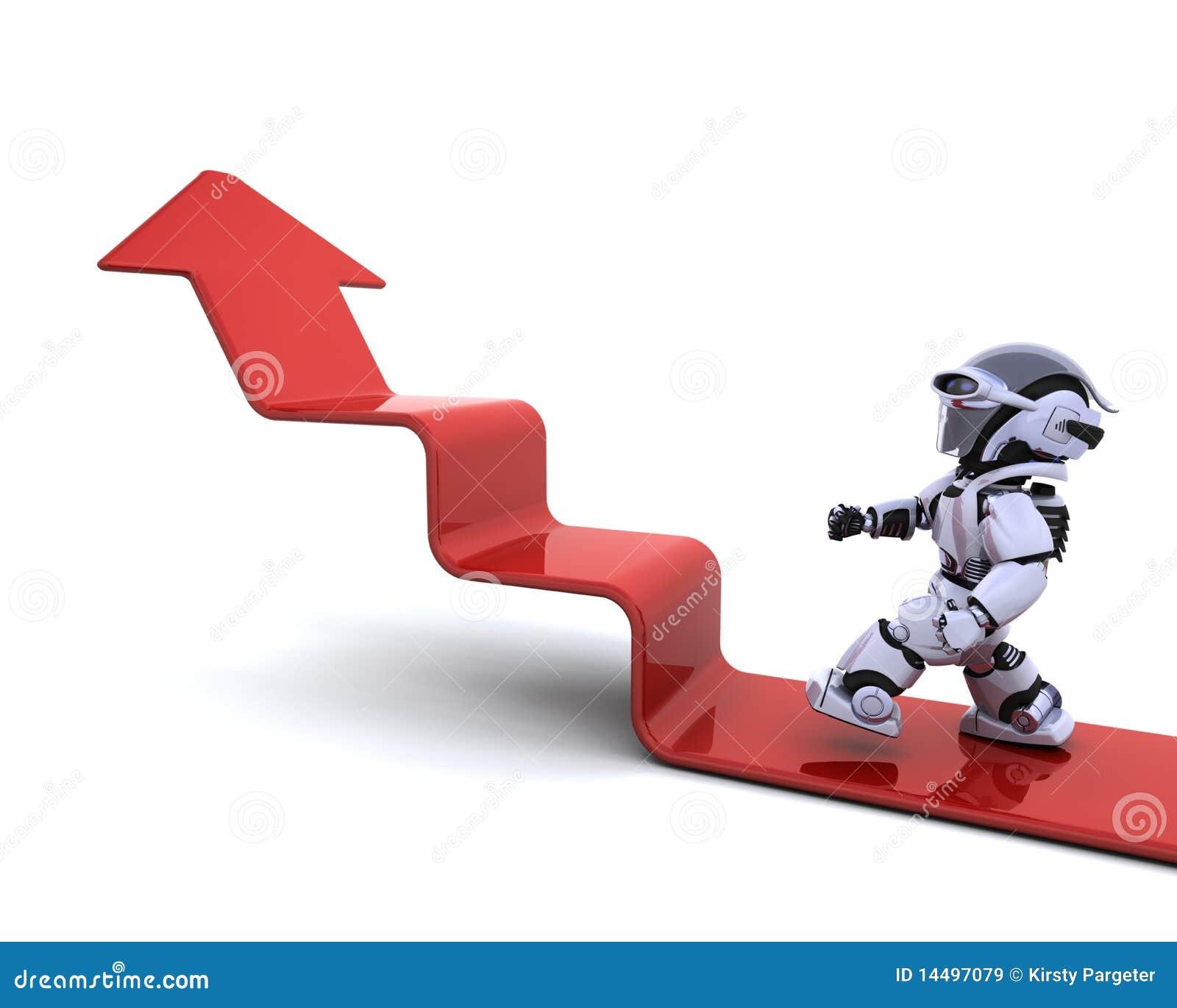 Wykresu wspinaczkowy robot