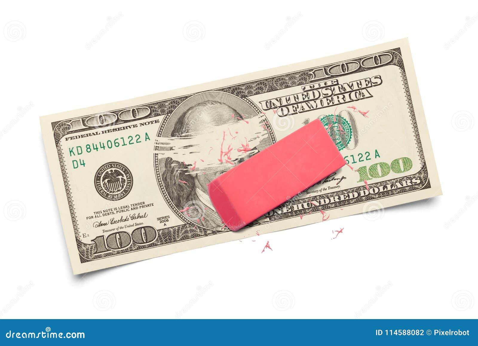 Wymazuje pieniądze
