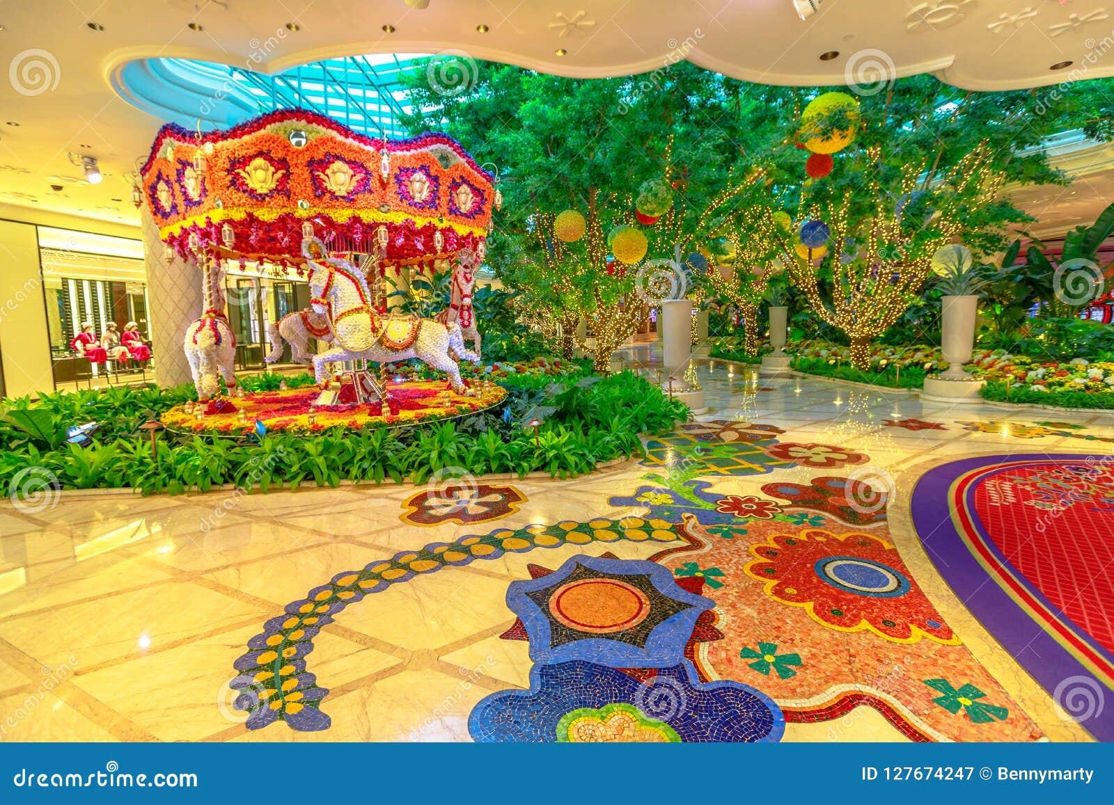 Wynn Flower Carousel Editorial Photography Image Of Inside 127674247