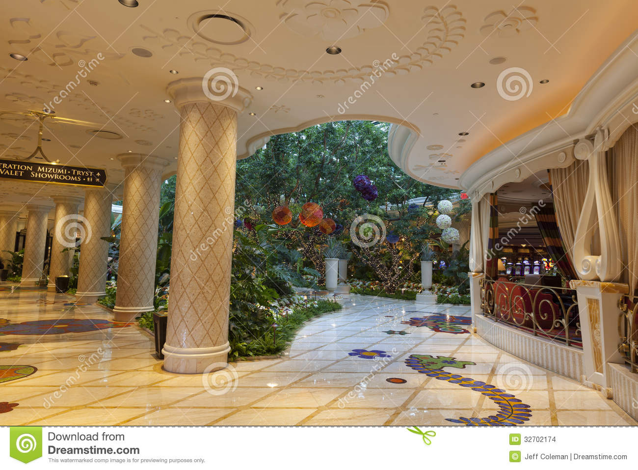 Wynn hotel interior in las vegas nv on august 02 2013 editorial stock image image 32702174 Interior decorators las vegas