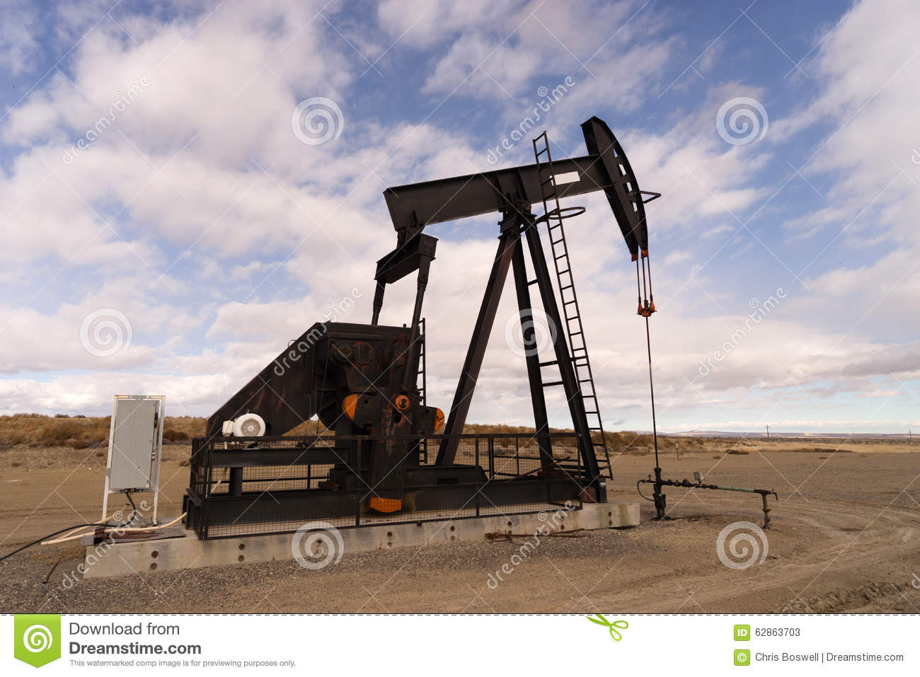 Wyoming Industrial Oil Pump Jack Fracking Crude Extraction
