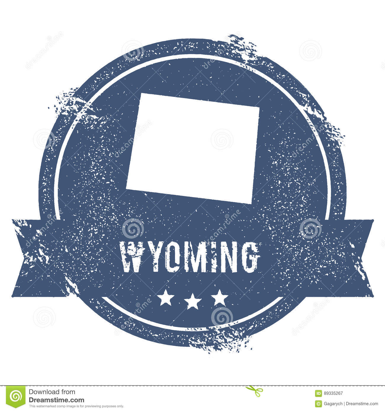 Free Wyoming State Map.Wyoming Mark Stock Vector Illustration Of Discover 89335267
